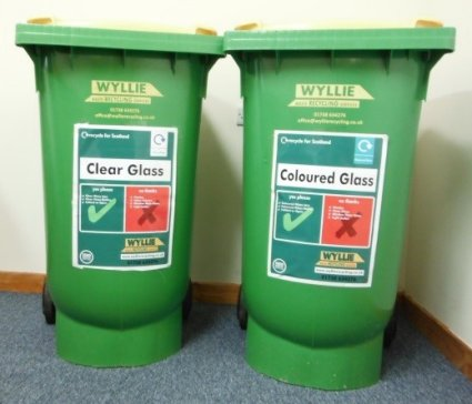 glass waste bins