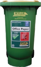 Office Paper 240 Litre Wheelie Bin